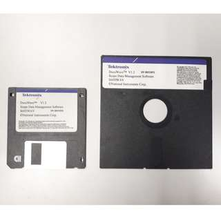 Old Time Computer Storage Memory : 90's Floppy disk : 5 1/4 inch & 3 1/2 inch
