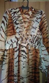 Gamis leopard payett