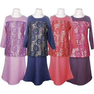 Raisha Lace Kids Baju Kurung