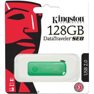 Kingston 128GB DataTraveler SE8 Personal USB 2.0 Flash Drive