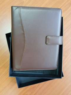 Organizer A5 Caculator & Note Pad (Brown Synthetic Leather)