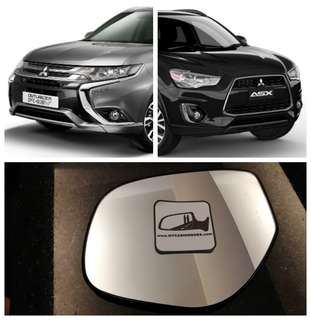 Mitsubishi ASX Outlander side mirror all models and series
