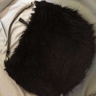 h&m faux fur bag