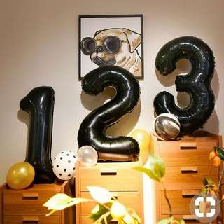 "32"" foil number balloon"