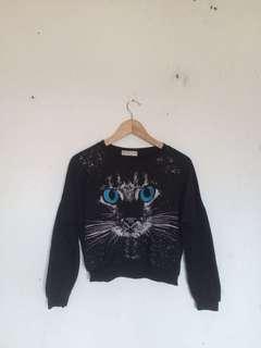 Jaket crop cat