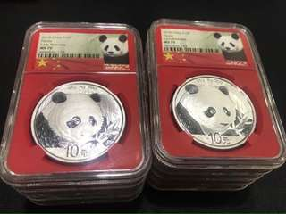 1oz silver panda coin ms70