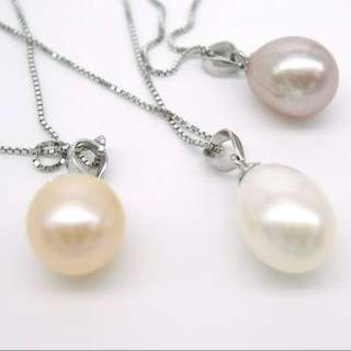 fresh water pearl 925 silver necklace / 淡水珍珠925純銀。頸鏈