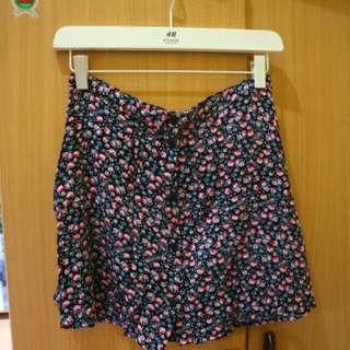 skirt button flowers h&m