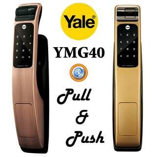 Yale YGM 40 金色指紋電子大門鎖