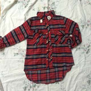 BNWT Red Flannel Shirt