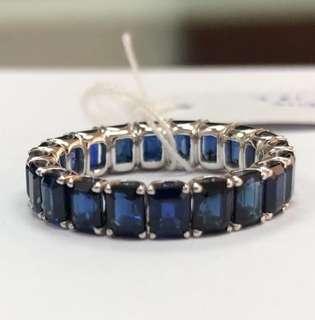 渾身藍寶石戒指20粒共5.52ct 12.5號圈只售$12800