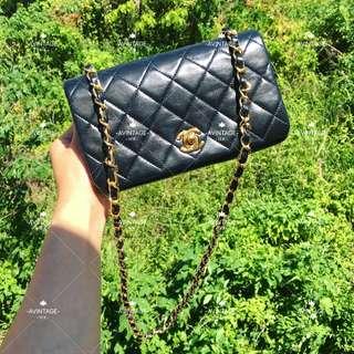 (SOLD)Chanel Vintage 黑色羊皮 Full Flap Bag