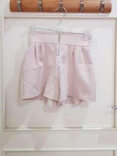 Short Pants Cream Zipper