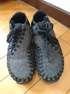 降價出售 黃金尺寸24cm NIKE羊毛毛呢編織鞋 (NIKE Footscape Woven SE)