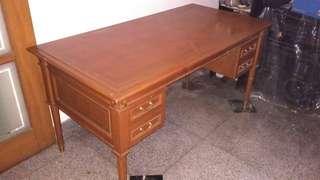 Meja kantor kayu jati asli ori mulus exclusive