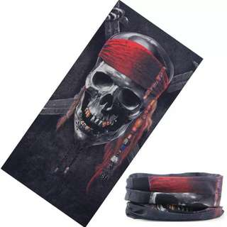 🆕! Pirate Speed Demon Mask Scarf Half Face on Neck 2 style Bandana    #OK