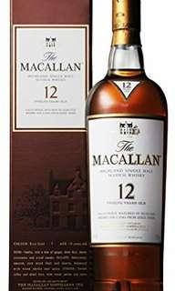 Macallan 12 year sherry oak 70cl