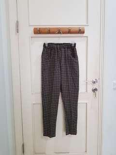Pants Celana Panjang Kotak2 Abu