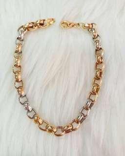 Tri color bracelet 6.5g