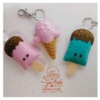 Ice Cream Felt Bag tag
