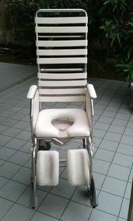Commode - toilet & shower Wheelchair.