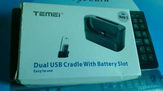 Dual USB cradle with batterry slot for Note 3