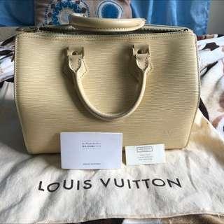 Louis Vuitton Speedy Epi Handbag