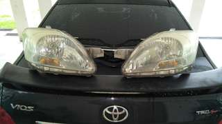 Head lamp and grill Vios 2009