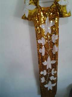 Sequence filipiniana gown
