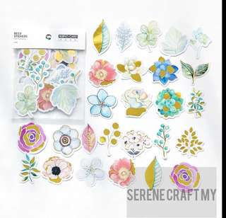 Set of 45pcs Flowers Gilding Sticker Pack