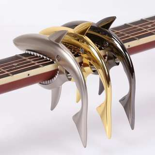 Capo guitar shark design