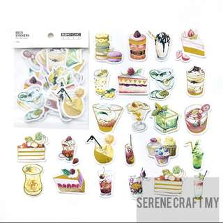 Set of 45pcs Cakes Gilding Sticker Pack