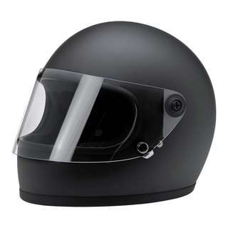 Biltwell Gringo S SIZE X-LARGE XL ONLY Flat Black Matte Black DOT Certified Full Face Motorcycle Motorbike Cafe Racer Helmet