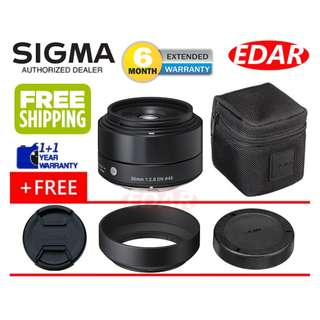SIGMA 30MM F2.8 DN ART LENS (FOR SONY E-MOUNT LENS) ««ORIGINAL & OFFICIAL SIGMA»»