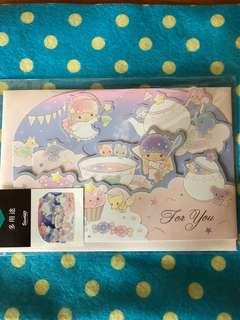 Sanrio日本Little twins star 多用途卡