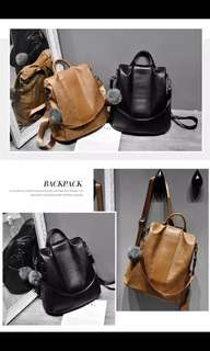 *New* Leather back pack