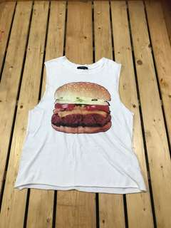 Forever 21 Burger Muscle Tee