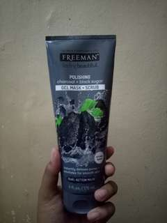 Masker freeman charcoal + black sugar
