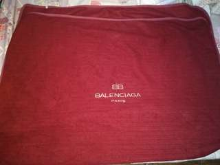 Preloved balenciaga blanket and pillowcase