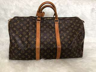 AUTHENTIC Louis Vuitton LV keepall 50