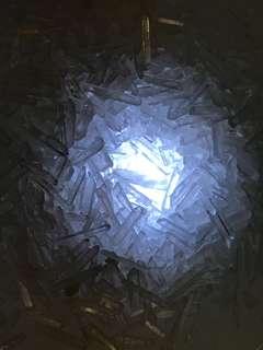 Small tiny white quartz chips