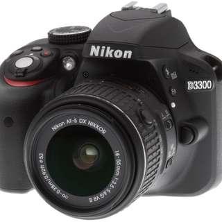 Promo Cicilan Camera Nikon D3300 cukup bayar750ribu (sony,canon)