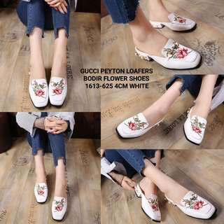 GUCCI PEYTON LOAFERS BODIR FLOWER SHOES 1613-625