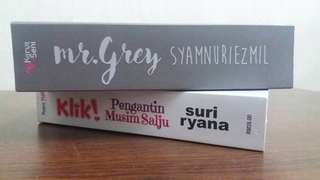Novel Mr Grey & Novel Klik! Pengantin Musim Salju