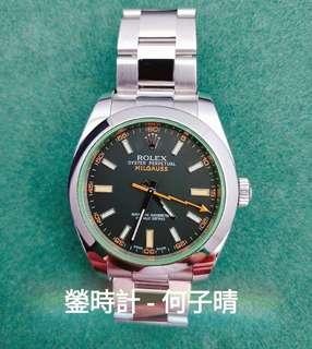 Rolex 116400GV 綠玻璃  淨錶一隻 90%新淨