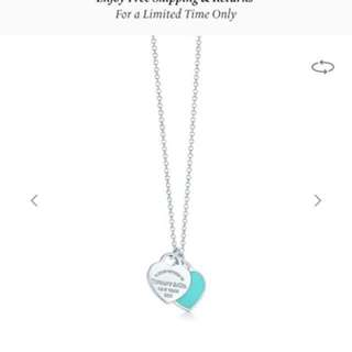 Tiffany and co Heart Pendant necklace