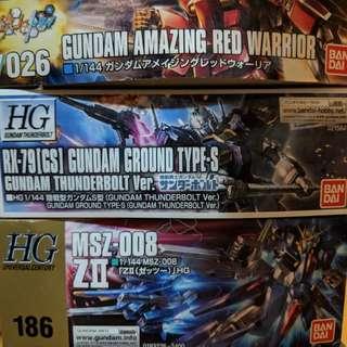 全新未開過模型 Gundam x 6