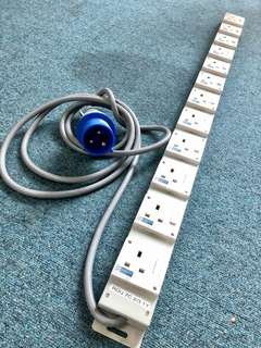 12Way x 13amp power socket with 32A C-Form