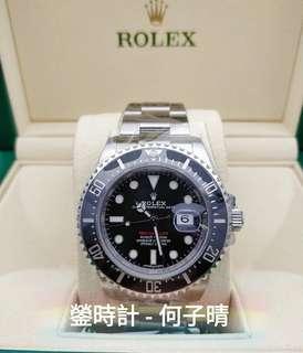 全新現貨 全錶原裝膠紙未撕 未改錶帶 確保全新未用品  Rolex 126600 單紅 43mm 全套齊