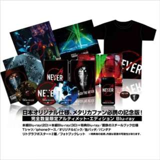Metallica Through the Never Blu Ray Disc Japan only limited edition only 4000 set  Ultimate Edition [2D BD+3D BD+Bonus BD]